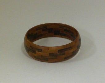 Walnut and Cherry Wood Bracelet (B3)