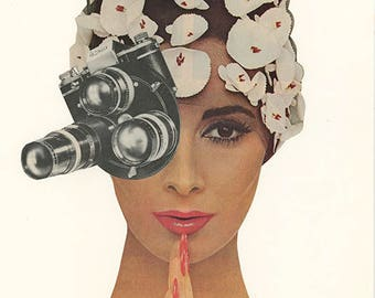 I spy. Original collage by Vivienne Strauss.