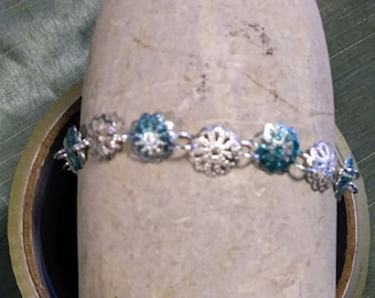 Delicate Blue and Silver Ladies bracelet