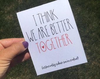We are better together - Funny I miss you card - Funny Anniversary card - Funny Relationship card - Long Distance Relationship - Valentine