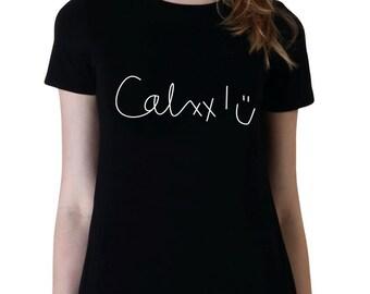 Calum Signature, Trendy Fashion Shirt, Teen Girl Gifts for Teen Girls Fan Girl Shirt, 5SOS, Teen Band Shirt, Tumblr Instagram