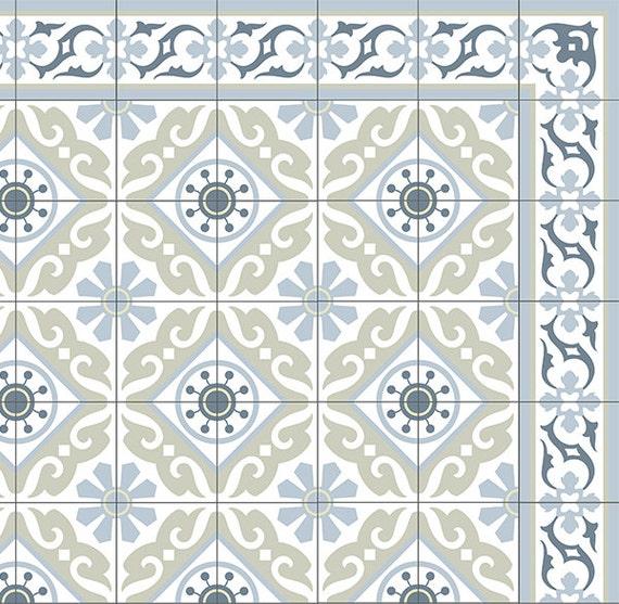 Fliesen Muster Dekorative PVC-Vinyl Matte Linoleumteppich