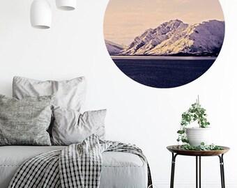 Lake Hawea, New Zealand. Walldot vinyl fabric restickable art decal (15cm x 15cm or 40cm x 40cm)