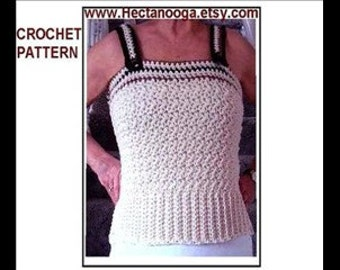 CROCHET Tank Top, PDF PATTERN, all sizes from age 1 to women's XXXLarge (60 inch chest), Easy beginner, toddler, child, teen, adult #681