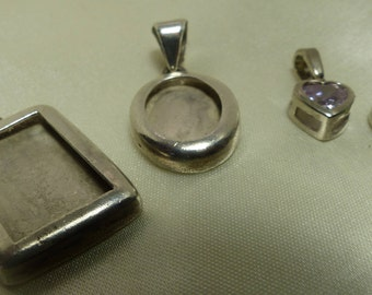 Sterling Silver Set of 4 charms, for bracelet or Necklace. 18 grms 1987