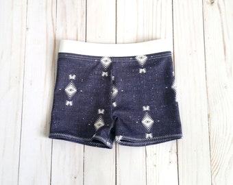 Indigo Tribal Baby Boy Swimsuit | Baby Swim Shorts | Baby Euro Shorts | Toddler Swimsuit | Toddler Swim Shorts | Baby Boy Board Shorts