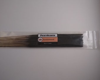 20 Hand-dipped Sandalwood Incense Sticks Made to Order in small batches. Finest Quality.