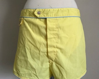 60s Men's Yellow Swim Trunks