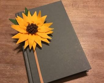 Sunflower Felt Headband, Clip, Book or Journal Marker