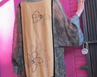 Mixed fiber kimono