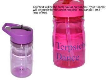 Personalized Purple Kids Tumbler,  Purple Tumbler, Kids Travel Mug, Dance Tumbler, Sports Bottle, Kids Water Bottle BPA Free
