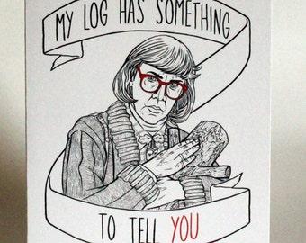 Twin Peaks Log Lady Greeting Card