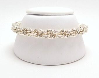 Double Spiral Bracelet in Sterling Silver