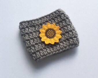 Crochet Sunflower Cozy/Coffee Cozy