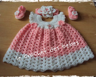 """baby dress, headband, slippers """"made to order"""" set"""