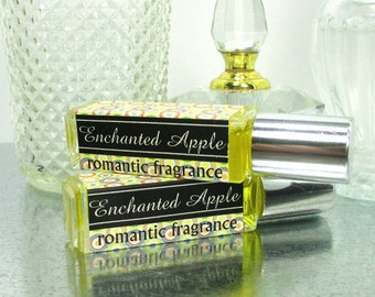 SALE Enchanted Apple Perfume, Sandalwood Apple,  Romantic, Concentrated, Portable scent, Warm fruity fragrance