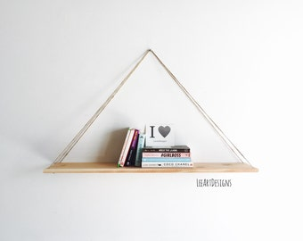 Hanging Shelf, Rustic Decor, Beach Decor, Cedar Wood, Decor, Swing Shelf, Wood Shelf, Furniture, Book Shelf, Floating Shelf, Modern Shelf