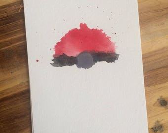 watercolor pokeball