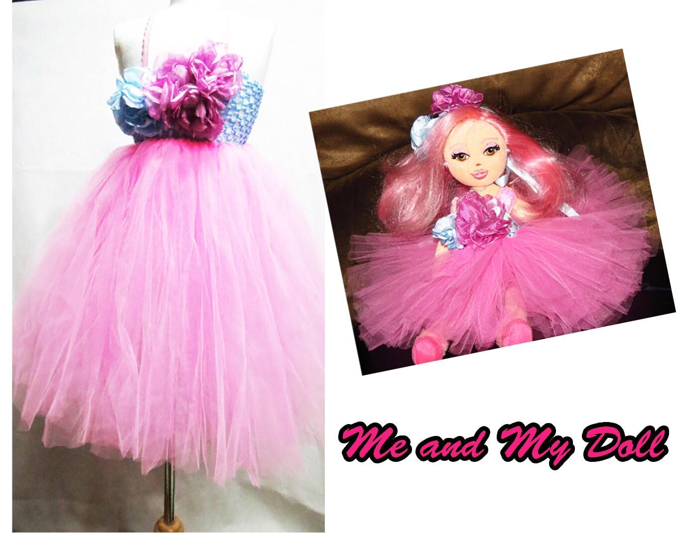 Vestido tutú rosa Me y My Doll Dollys y me tutu vestido con
