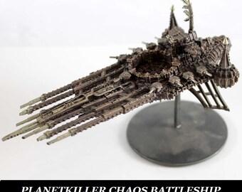 warhammer PLANETKILLER CHAOS BATTLESHIP wargames