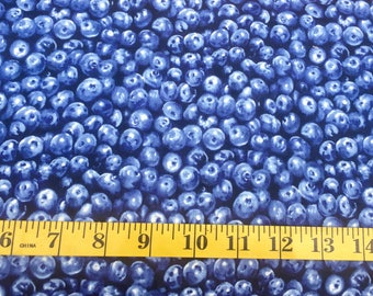 Timeless Treasures Blueberries C6870 Cotton Fabric By the Yard