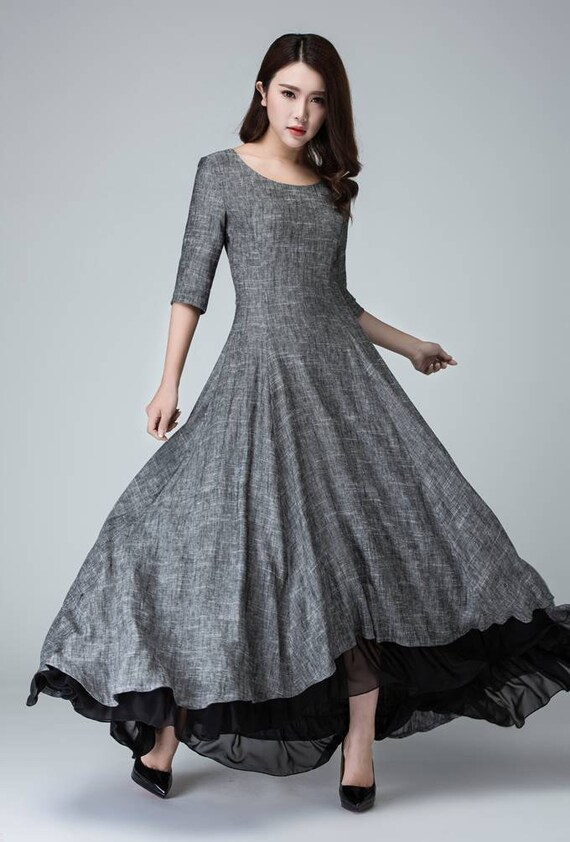 haut bas de robe robe en lin robe d u00e9t u00e9 robes femmes robe