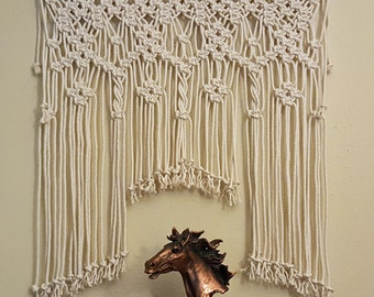 "Macrame Wall Hanging Boho Tapestry Window Curtain Console Headboard Wedding Backdrop ""Spirit"""
