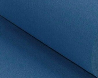 Petrol Blue Ribbing Stretch fabric for cuffs and waistbands