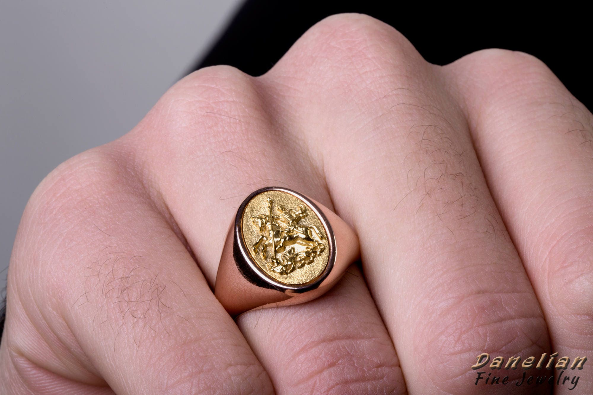 Signet Ring Men Knight Ring Sovereign Ring Pinky Ring Man