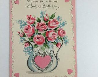 Vintage Valentine Birthday Card
