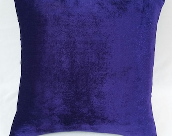 Indigo blue velvet throw pillow, violet velvet pillow, blue velvet throw pillow, velvet cushion, decorative pillow, velvet pillow cover,
