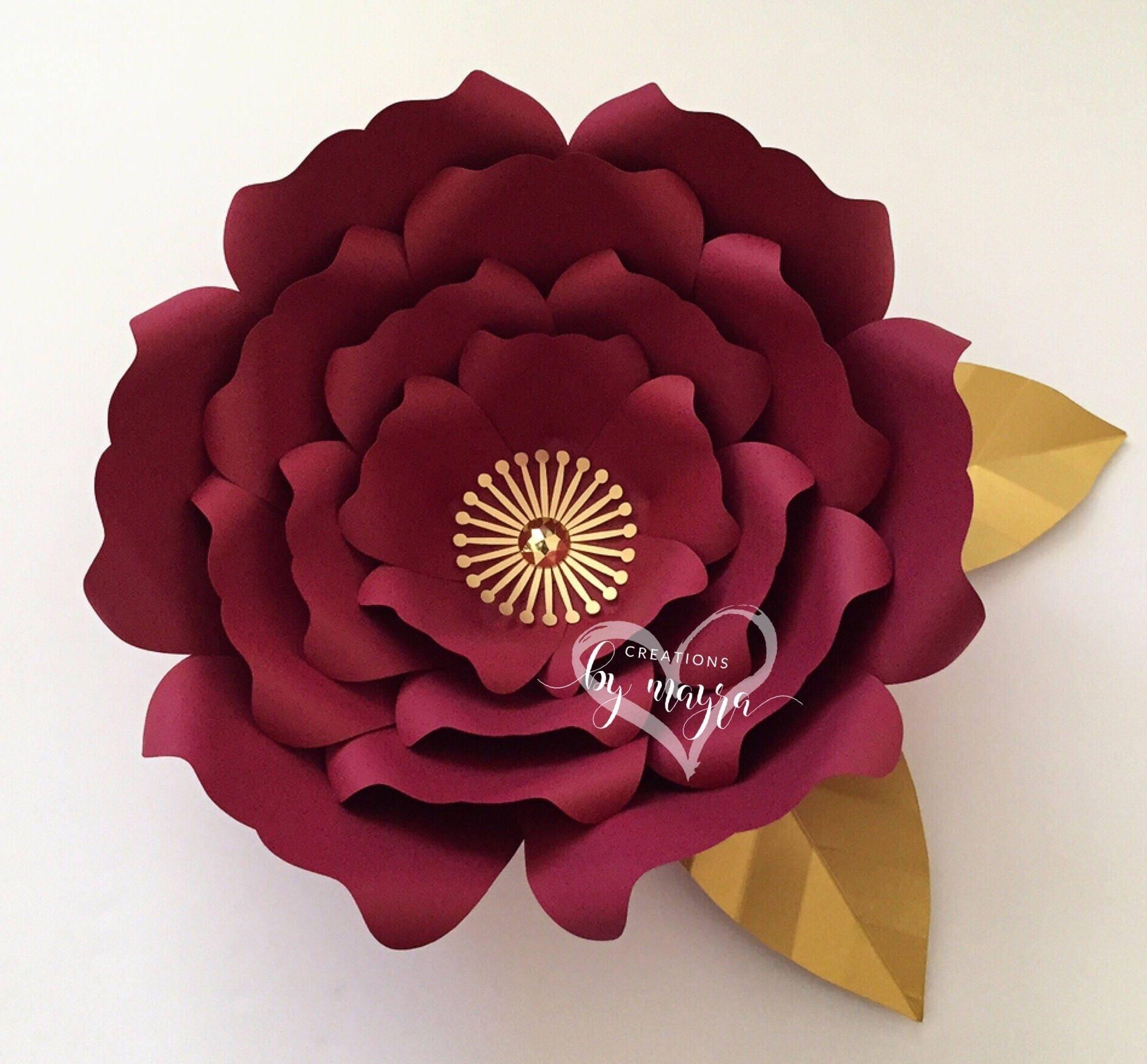 Svg Flower Template 65 Diy Paper Flowers Flower Templates