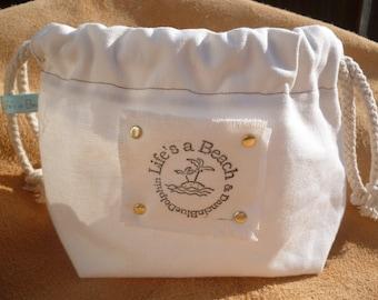Canvas Make up Bag : Accessory Bag