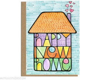 Happy New Home, New House Gift, New House Card, New Home Card, Moving Card, Housewarming Card, Moving In, New Home Congratulations Card