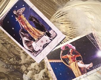 """Cards postcards """"Circus"""" (x 5)"""