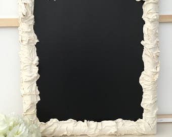 Floral and lace Powertex chalkboard