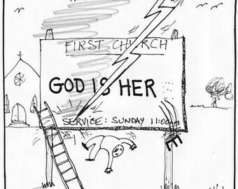 God is Her Now! CARTOON