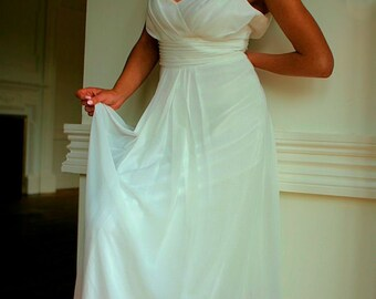 Beach wedding dress/boho wedding/dipdye wedding dress/pink wedding dress/alternative wedding dress/grecian wedding dress/summer wedding