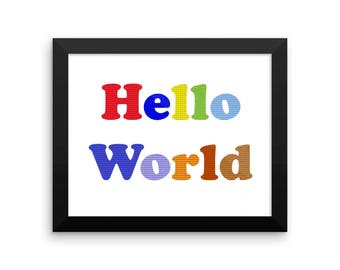 CSP Hello World Framed photo paper poster