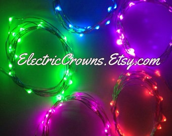 Fairy Lights, LED Lights, Light Up Clothing, Led Costume, Electric Dress, Glow Gear, Night Run, String Lights Battery Operated Batteries