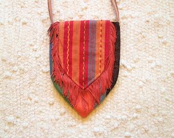 Small Spring Boho Gypsy Hippie Tribal Fringe Cross Body Cell Phone Bag