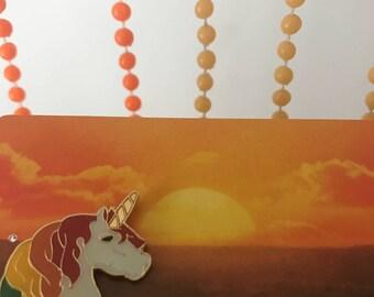 Vintage Deadstock Rainbow Unicorn Pin