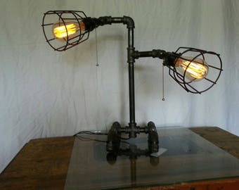 Steampunk Gas-Pipe Table Top Desk lamp