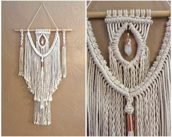 Boho Decor Bohemian Decor Macrame Wall Hanging Boho Wall Decor Boho Wall Hanging Tapestry Home Decor Rustic Home Decor Shabby Chic