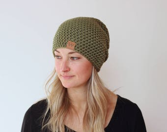 NEW Sage - ACRYLIC Soft Light Weight Slouchy Beanie