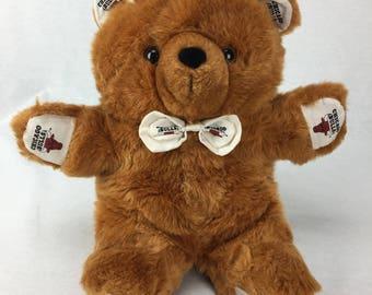 Vintage Pillow Pal Chicago Bulls, Teddy Bear, Basketball, Stuffed Animal, NBA, Chicago Bulls, Stuffed Teddy Bear, Stuffed Basketball, Toy