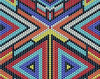 Caleidescope Inspired Peyote Stitch Bracelet Pattern
