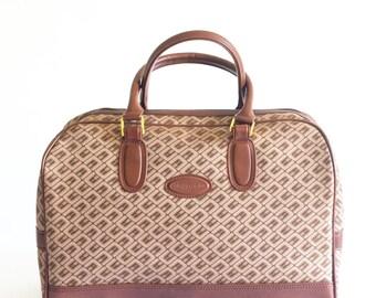 Vintage Pierre Cardin brown canvas travel bag
