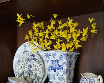 Crepe Paper Forsythia Branch   Ode to Southern Flowers   Home Decorations   Wedding Decorations   Flower Arrangements