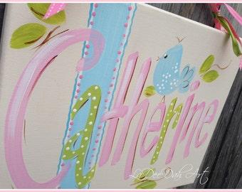 Bow Holder,Hair Bow Holder, Clip Holder, Canvas Wall Art, Personalzed Bow Holder, Custom Bow Holder, Organizer, Room Decor, Hand-Painted